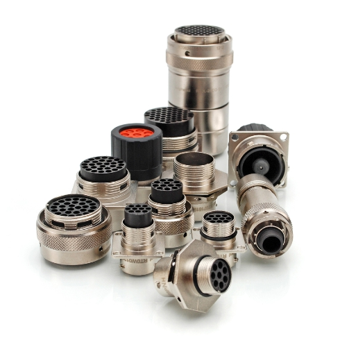 Rugged Metal Circular Connectors with Seven Shell Sizes, 25 Insert Arrangements Offer Flexible, Custom Configuration