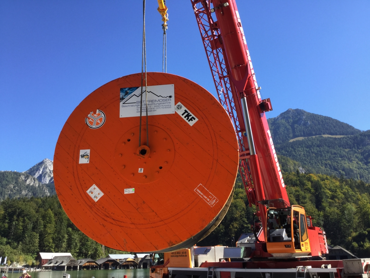 30 ton reel delivered in Germany