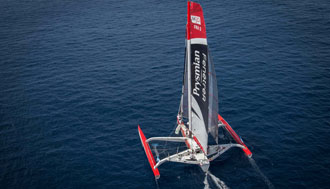 Prysmian and Pedote on the start line of the Transat Jacques Vabre