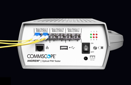 CommScope Enhances Optical PIM Tester with Cross-band Testing