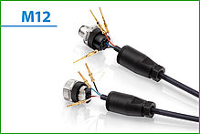New product 2015: M12 cable connector with crimp connection