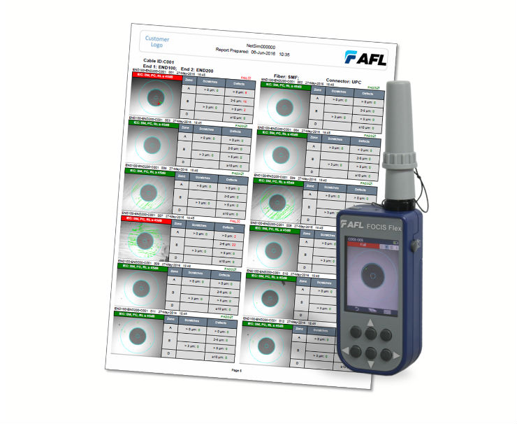 AFL Adds Connector Inspection Reporting to TRM® 2.0 Test Results Manager