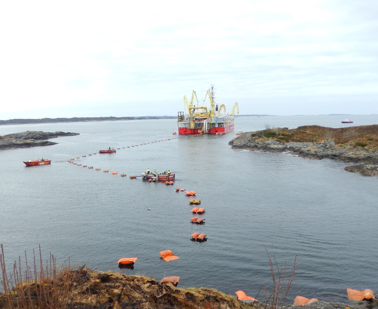 Nexans achieves two world records for deepest and longest 420 kV XLPE submarine cable system for Norway's BKK grid connection