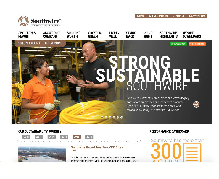 Southwire Launches 2015 Sustainability Report