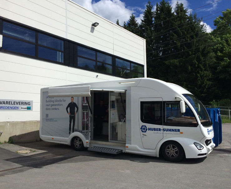 HUBER+SUHNER Roadshow begins to tour the UK