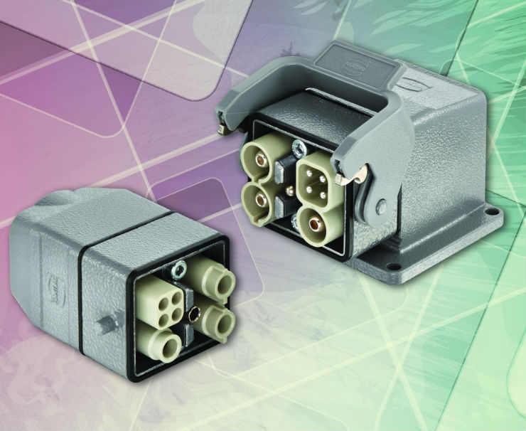 Han-Modular® Twin angular housing is ideal for motor connection