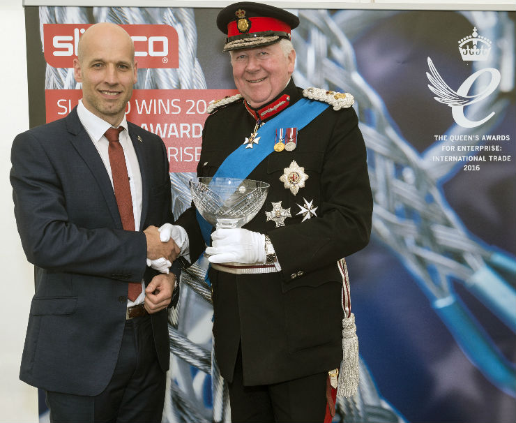 The Rt Hon. The Lord Shuttleworth KG KCVO, local MP and Mayors visit Lancashire manufacturer for Queen's Award presentation