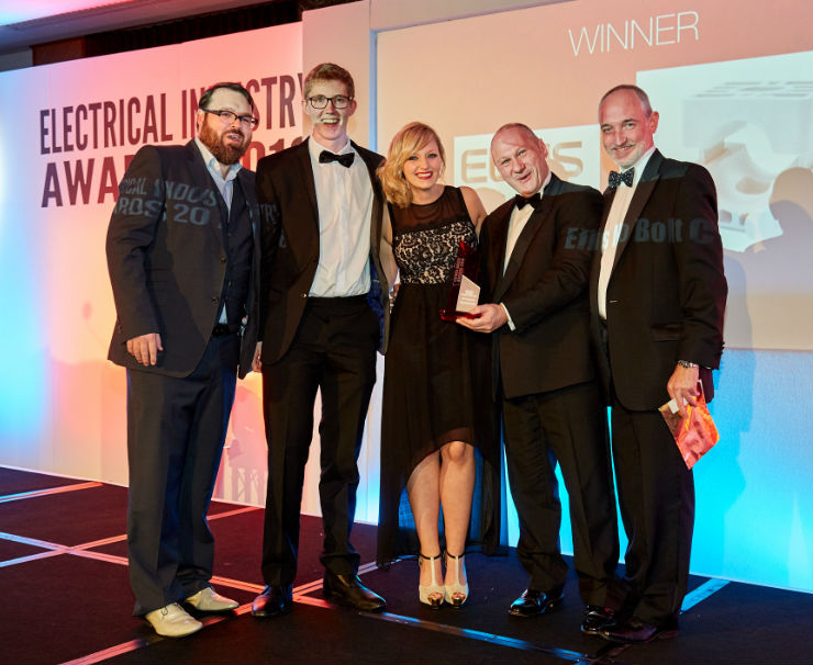 AND THE WINNER IS…Innovative Ellis scoops Electrical Industry Award