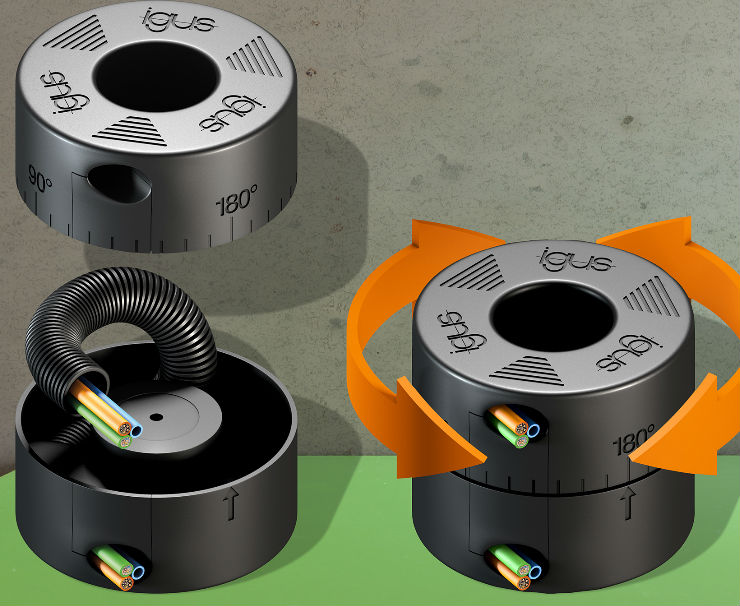 Compact rotation module for tight spaces