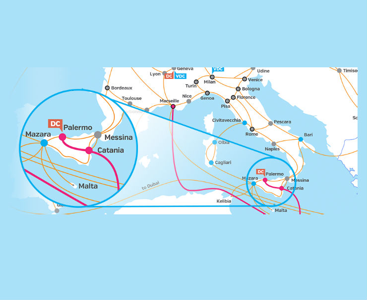 Interoute creates TWO digital super highway routes to bring digital traffic from new SEA-ME-WE 5 submarine cable into Europe