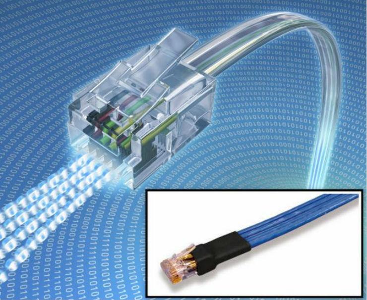 Filler-Free Flat Ethernet Cables