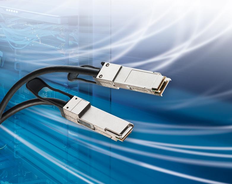 Leoni transfers 200 G via copper with passive QSFP connectors