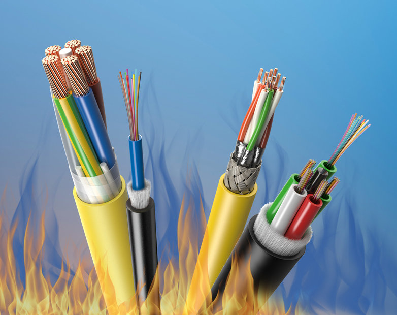 Low fire-hazard cables from Leoni enhance safety in buildings