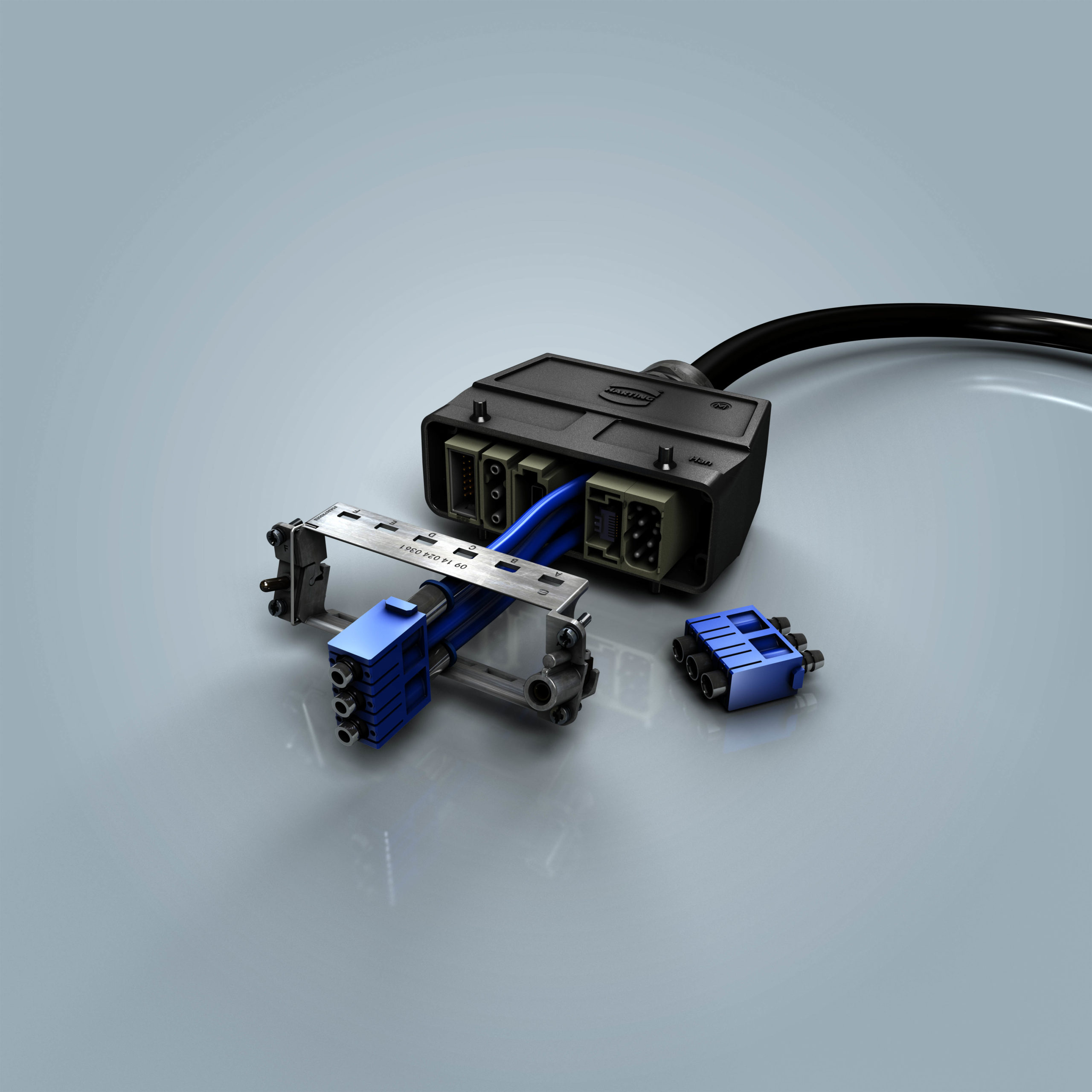 Modular connector interface enables compressed air delivery with thousands of mating cycles