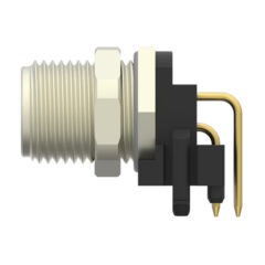 Greater design flexibility for PCB Connectors through new TE Connectivity M8/M12 Panel Mount connector system