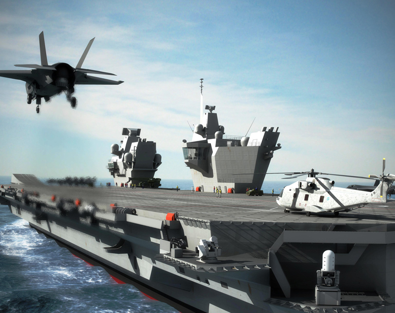 Warship supplied by AEI Cables starts aircraft trials