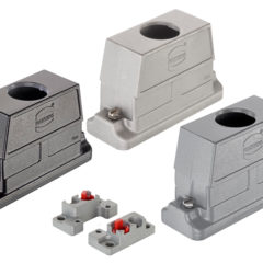 Connector housings offer direct sealing on the switch cabinet wall