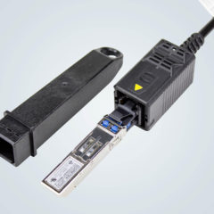 Optical-fibre connector features protected optical contacts to prevent dirt contamination