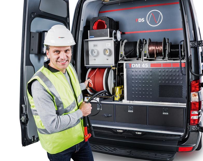 Megger's cable test van sets new standards
