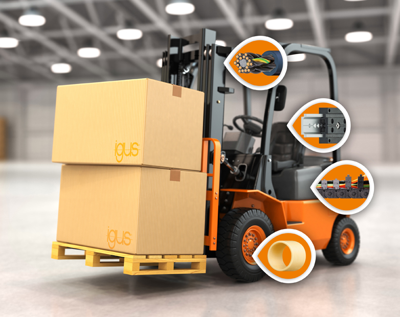 igus highlights the potential applications of high-performance polymers in forklifts