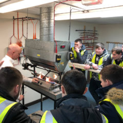 Students from Leeds College of Building visit Wrexham Mineral Cables