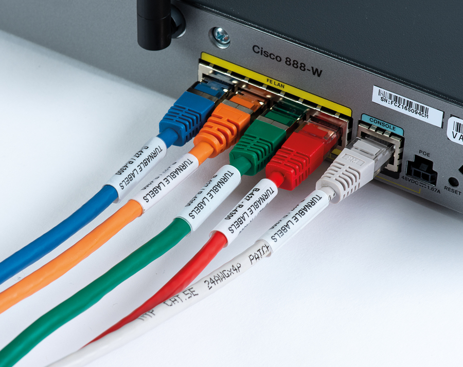 Rotating Label for faster cable troubleshooting