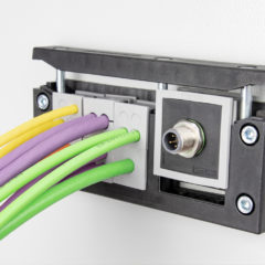 Hybrid cable entry possible with the new KT-M from icotek