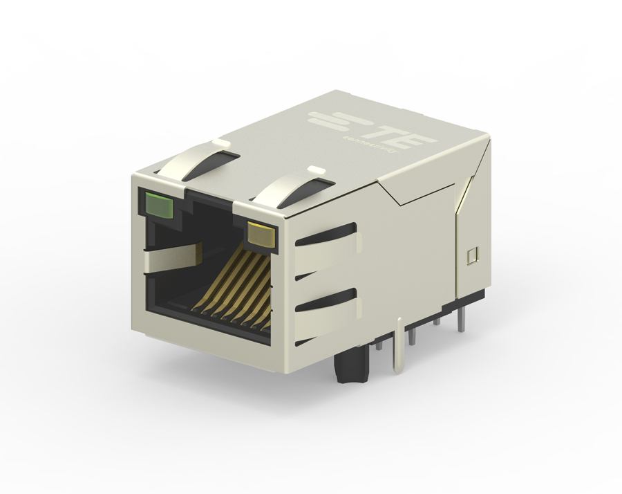 TE Connectivity now offers industrial Ethernet jacks with integrated magnetics and PoE