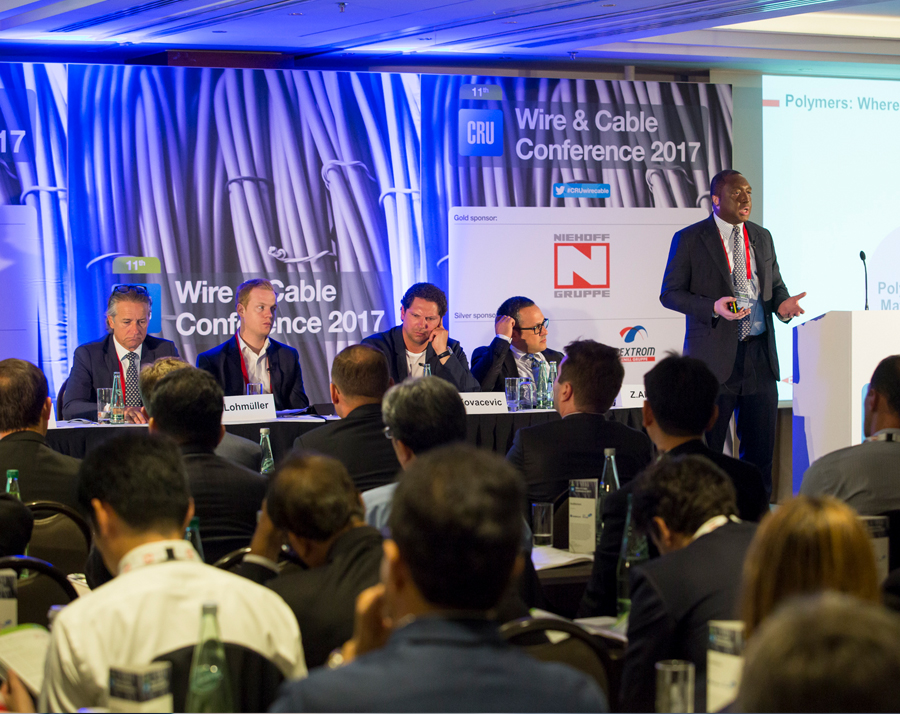 Leoni Kabel, Midal Cables, Corning, Sterlite Tech, Prysmian and other power and communication industry leaders join CRU's Wire & Cable 2019