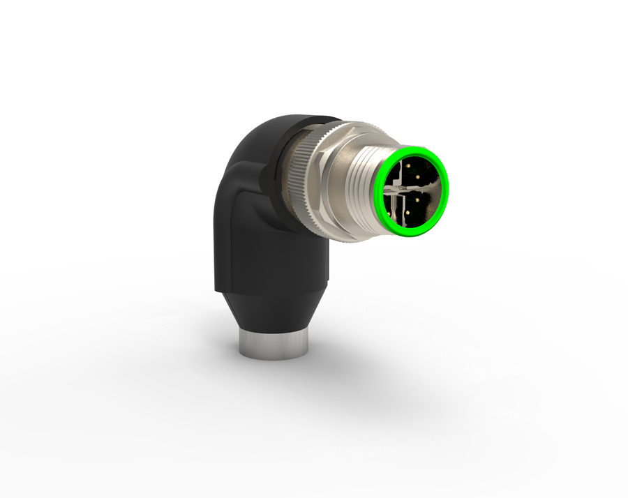 TE Connectivity right angle X-Code M12 connectors reduce assembly time, increase network performance