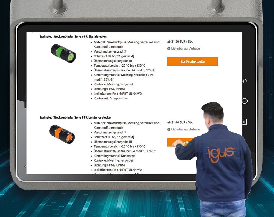 igus expands its services with an online shop for connectors