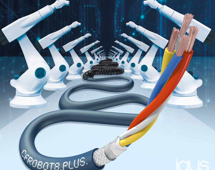 Ethernet robot cable from igus enables fast and reliable communication