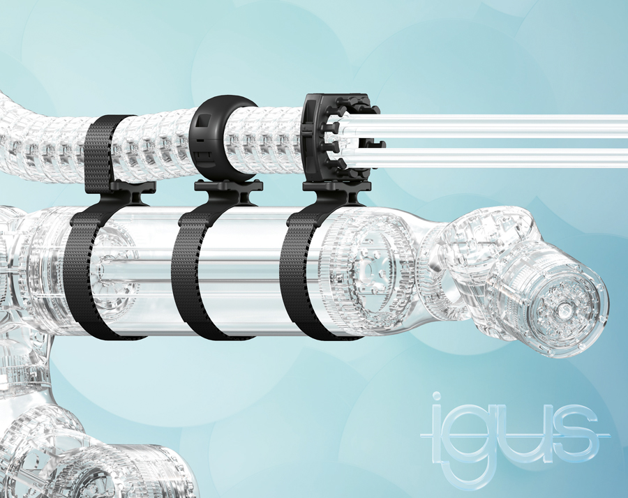 New universal clamp for energy chains and corrugated hoses ensures increased safety and reliability for collaborative robots