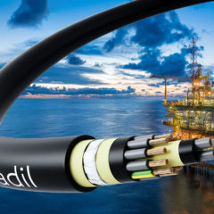 HRADIL offshore power cable for highly explosive environments