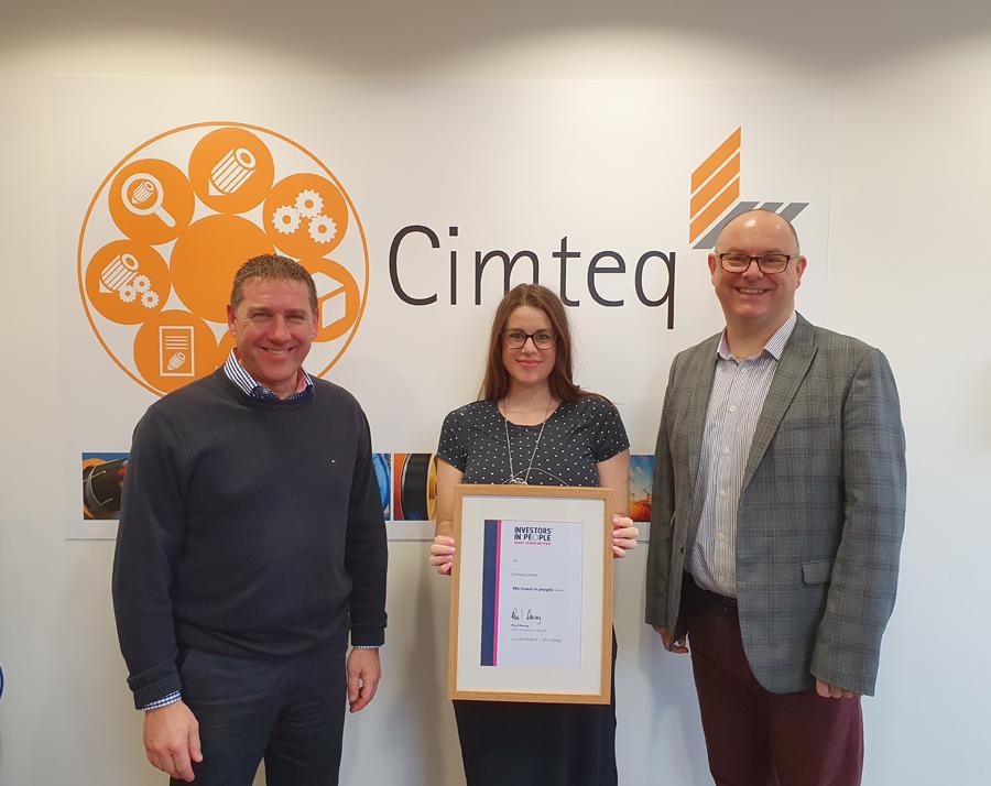 Cimteq achieves Silver Award in Investors in People