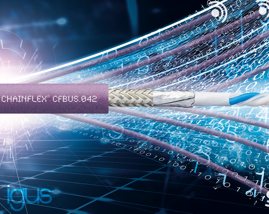 Downsizing and upgrading in one: igus Single Pair Ethernet cable for energy chains