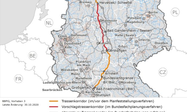 The Federal Network Agency decides on further route corridor sections of the SuedLink