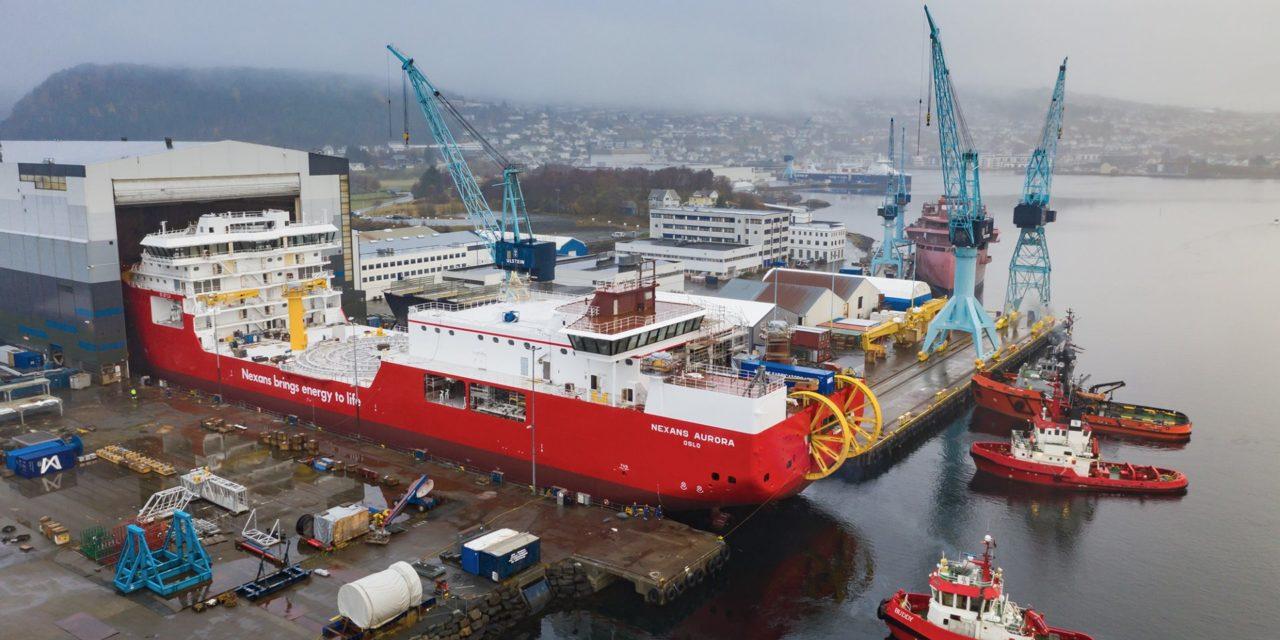 Nexans Aurora launched at Ulstein