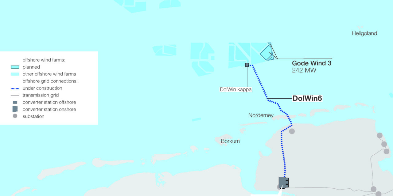 ZTT wins tender for two 155kV-AC offshore connections