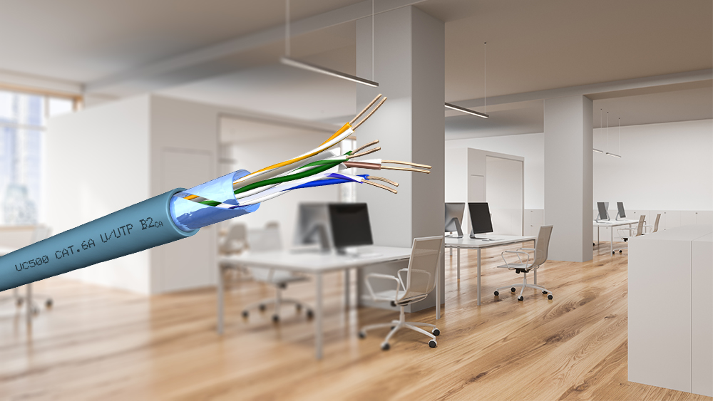 New Draka UC500 Cat.6A U/UTP cables: Higher fire protection with the same performance and manageability