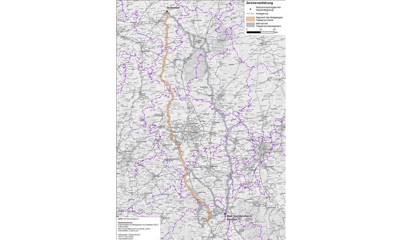 SuedLink route corridor fully established