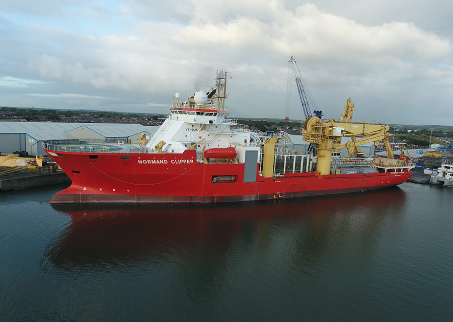 Cable installation completed at Danish Kriegers Flak