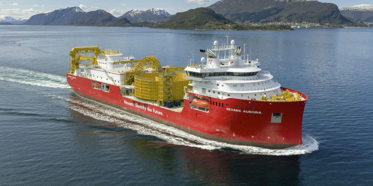 A sunny ride on the 'Nexans Aurora' sea trial